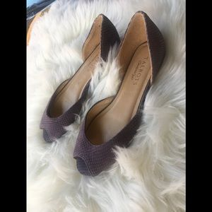TALBOTS Purple Leather Ballet Flats Size 51/2 B
